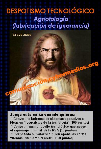 jorge-lizama-cybermedios-juego-estrategia-despotismo-tecnificado-agnotologia-steve-jobs-apple