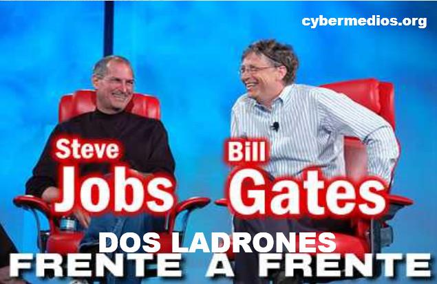 cybermedios-lizama-steve-jobs-bill-gates-dos-ladrones-frente-a-frente