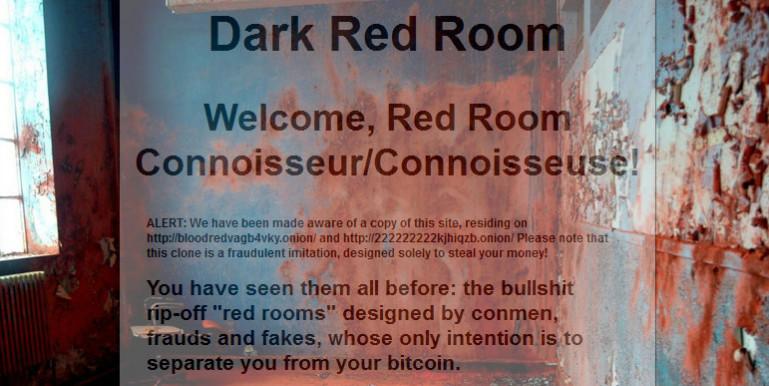 dark red room, el sitio que ofrece presenciar un asesinato en vivo
